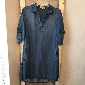 Anthropologie Cloth & Stone Denim Dress Small